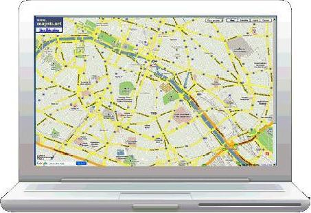 Paris, France: full-screen searchable map
