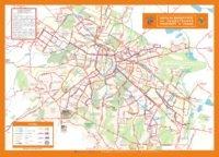 Sofia, Bulgaria: transport network map - bus, metro, trolleybus, tram